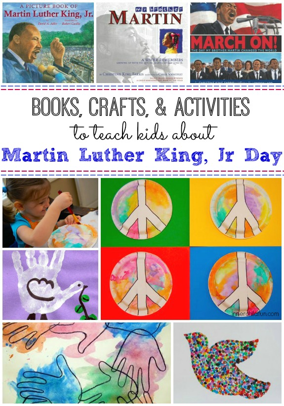 Martin Luther King, Jr - crafts, books, and activities to promote peace and diversity.
