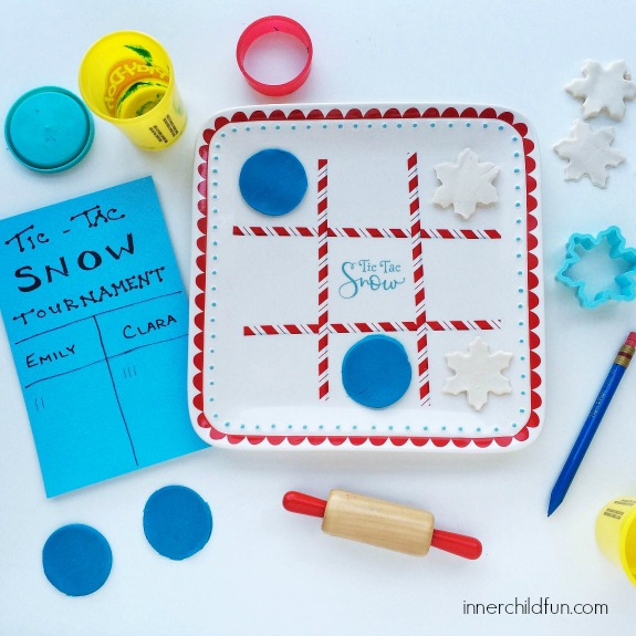 Snow Day Busy Bags -- tic -tac- snow tournament