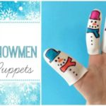 5 Little Snowmen Finger Puppet Craft