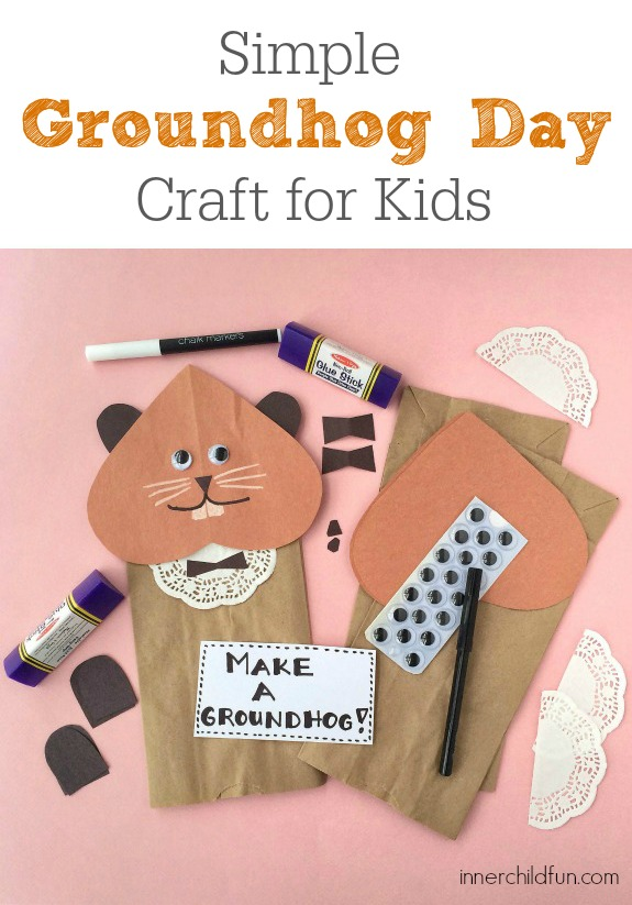 Simple Groundhog Day Craft for Kids