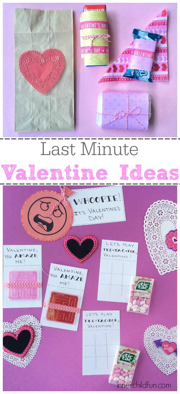 Last Minute Valentine Ideas for Kids