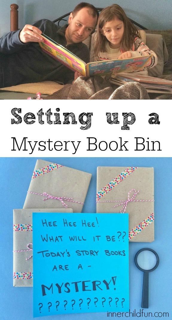 Mystery Book Basket - love this idea!