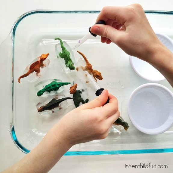 Dino Thaw -- and other polar themed activities for snow day fun