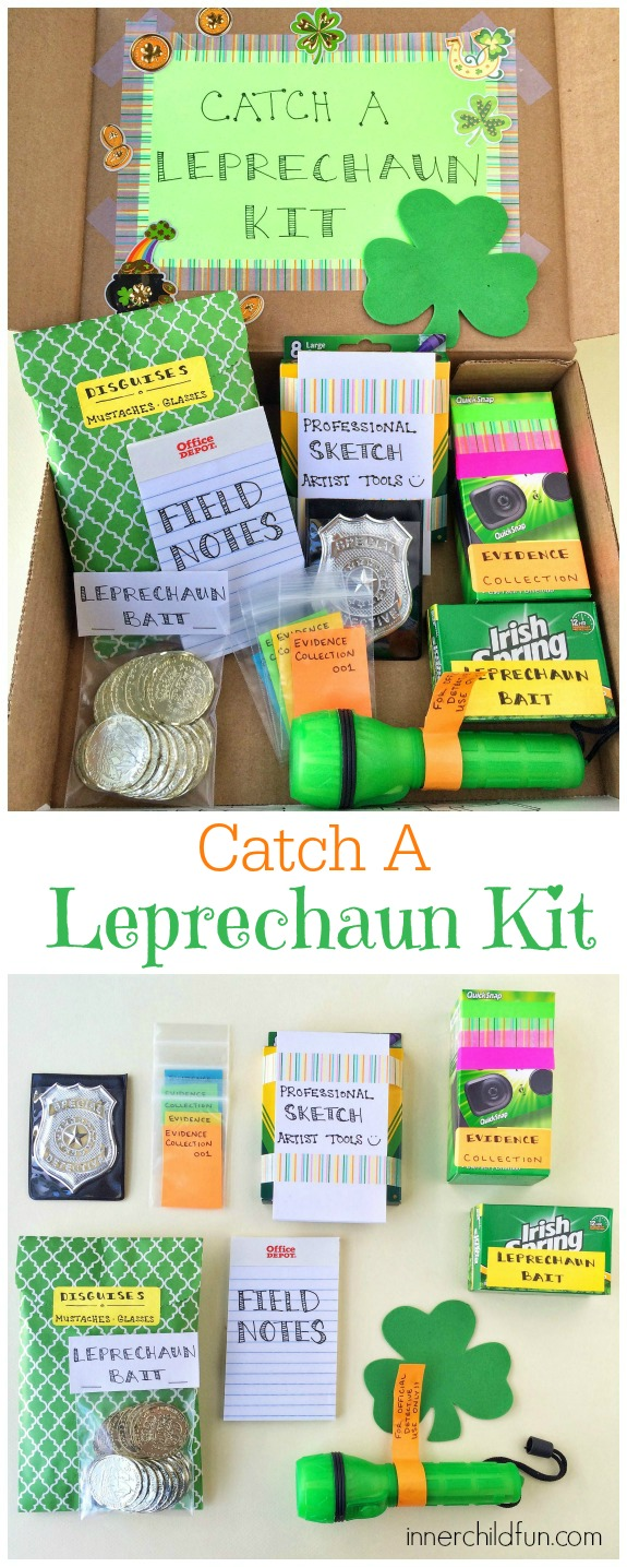 DIY Gift Idea for St. Patrick's Day -- Catch a Leprechaun Kit
