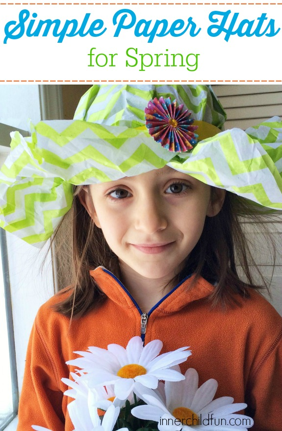 How to Make Paper Hats -- these are so simple and perfect for Spring!
