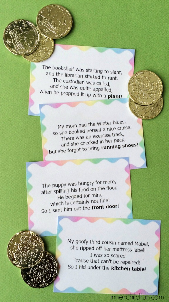 Leprechaun Treasure Hunt Clues - free printable