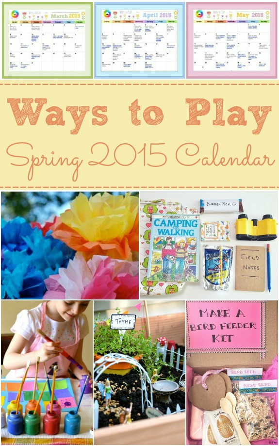 Ways to Play Spring 2015 Printable Calendar
