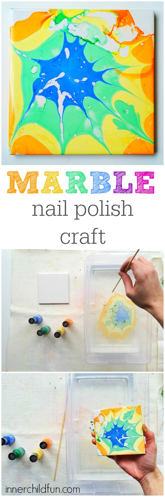 Marble Nail Polish Craft -- step by step tutorial (with video)