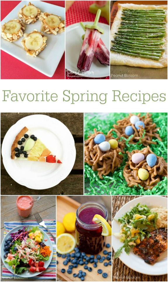 Favorite Spring Recipes -- love this collection of colorful salads, snacks, and treats!