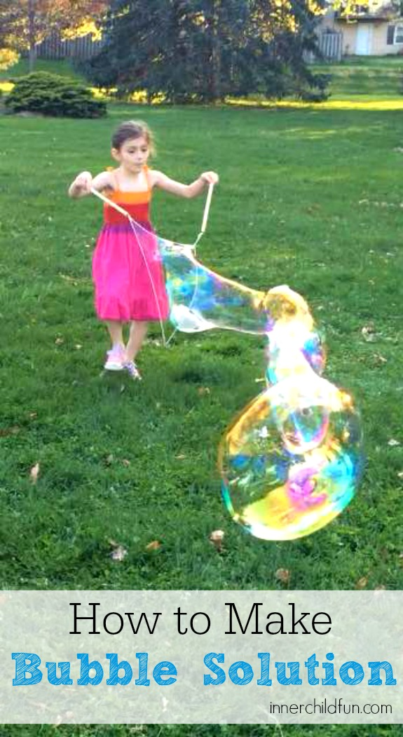 How to Make Bubble Solution for Giant Bubbles - cool!!