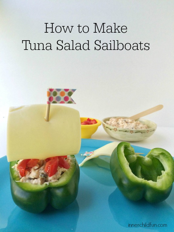 Tuna Salad Snack -- Sailboats!
