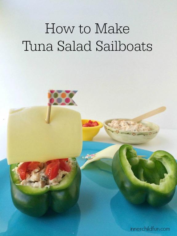 Tuna Salad Snack -- Sailboats!