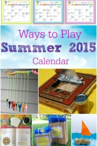 Ways to Play Summer 2015 Calendar