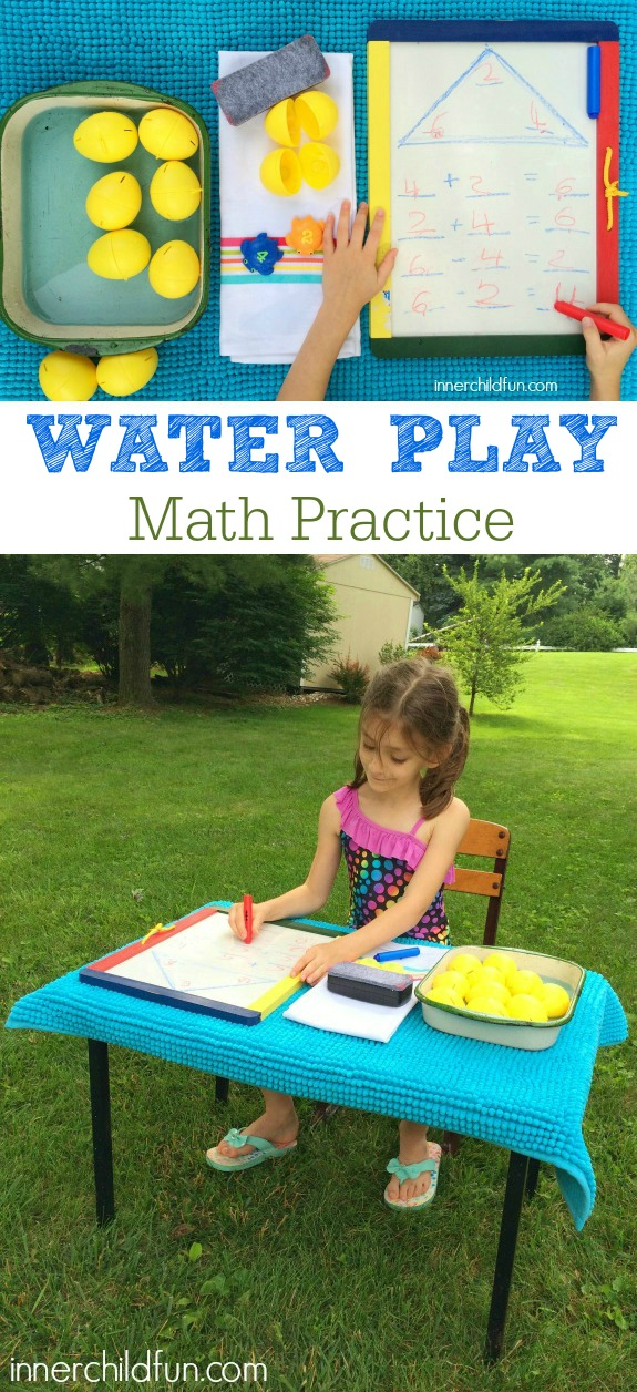 Summer Math Practice with Water Play