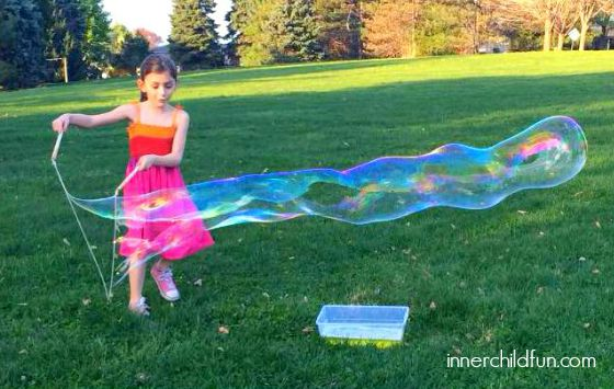 DIY Outdoor Toys to Get Kids Moving - Mega Bubble Wands