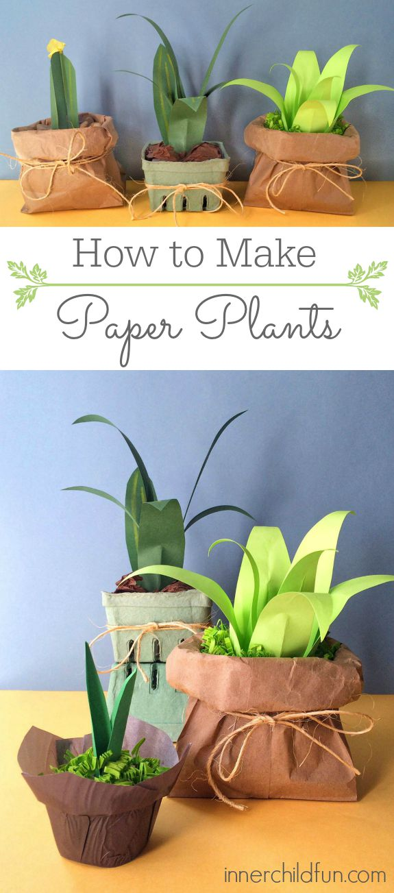 How To Make Paper Plants Easy Inner Child Fun