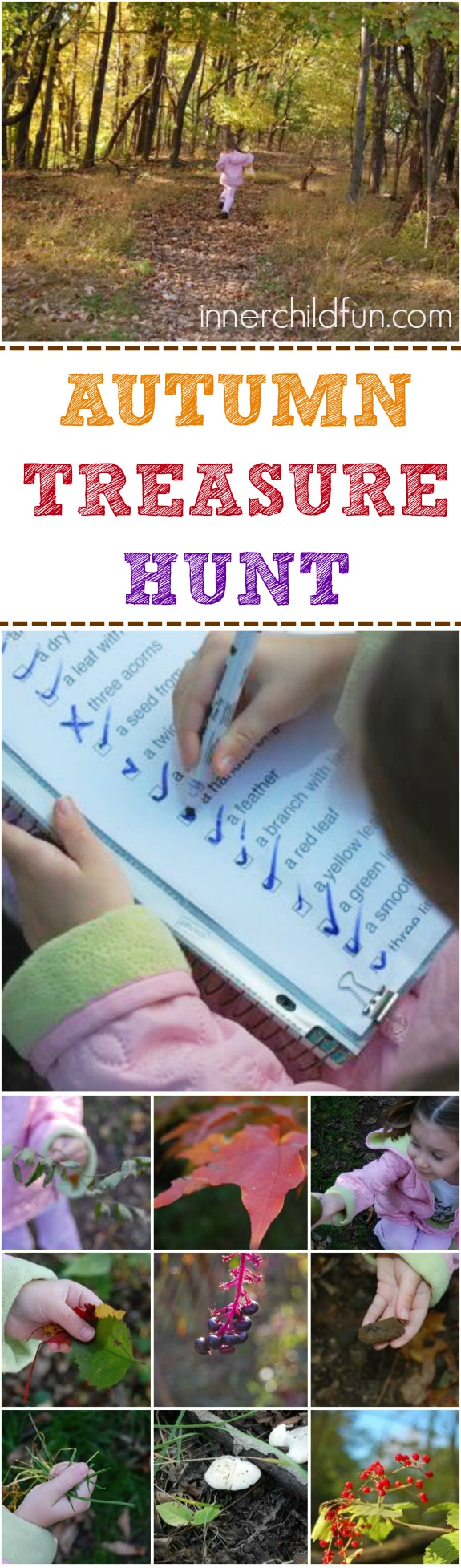 Autumn Treasure Hunt with free printable to join the fun on Instagram!