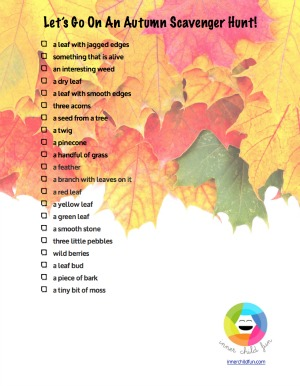Autumn Treasure Hunt Printable