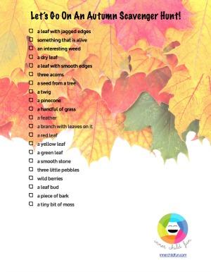 Autumn Treasure Hunt Printable