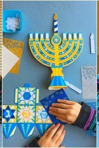 Mess-Free Hanukkah Crafts