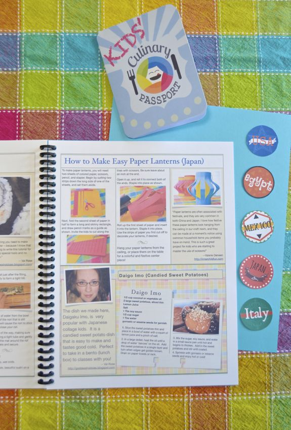 Kids' Culinary Passport -- cook and craft your way around the world!