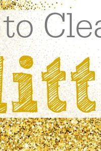 How To Clean Up Glitter