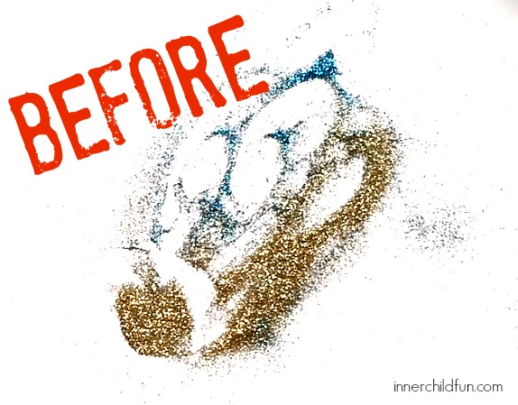 How to Clean Up Glitter -- Before