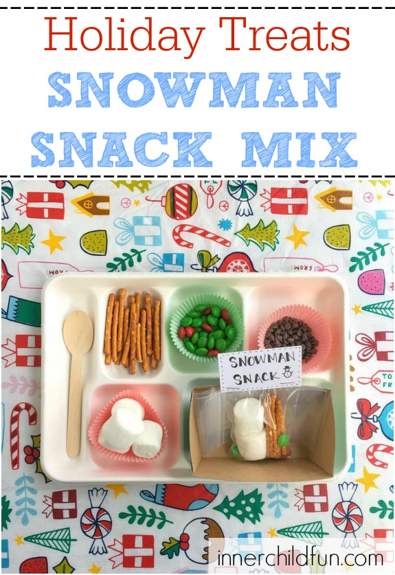 Holiday Treats -- Snowman Snack Mix -- so cute!!