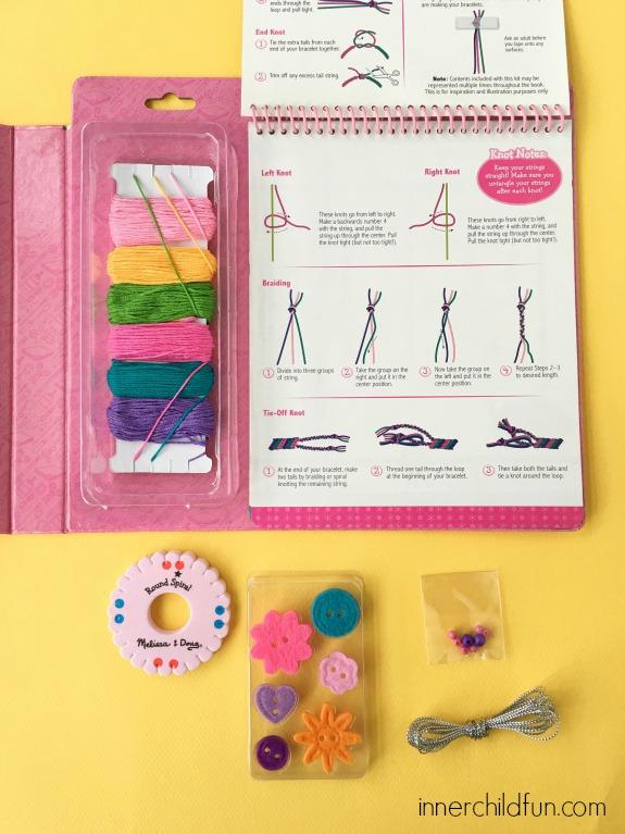 Friendship Bracelet Kit Contents
