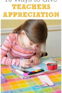 10 Ways to Show Appreciation for Teachers
