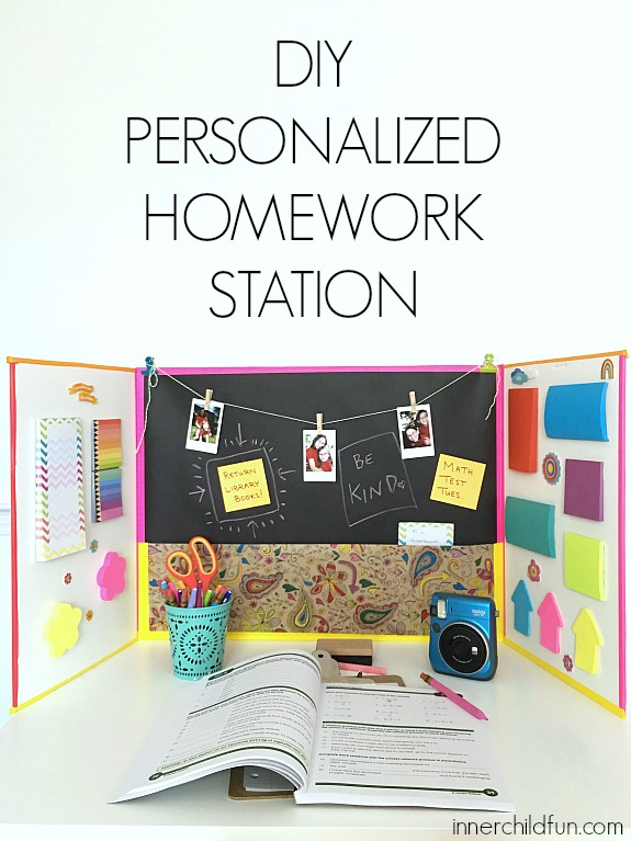 Diy Personalized Homework Station Inner Child Fun