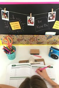 DIY Personalized Homework Station