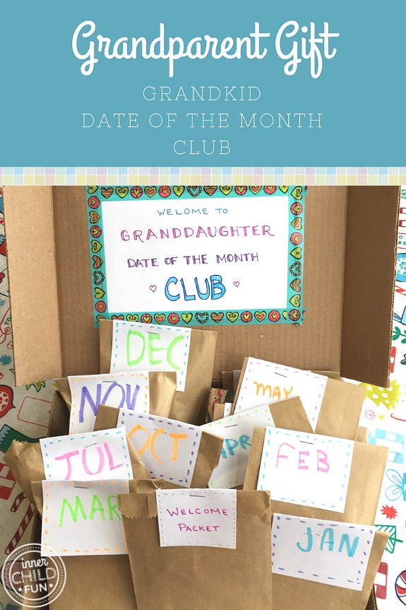 Grandparent Gift Idea - Grandkid Date of the Month Club