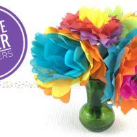Tissue Paper Flower Video Tutorial