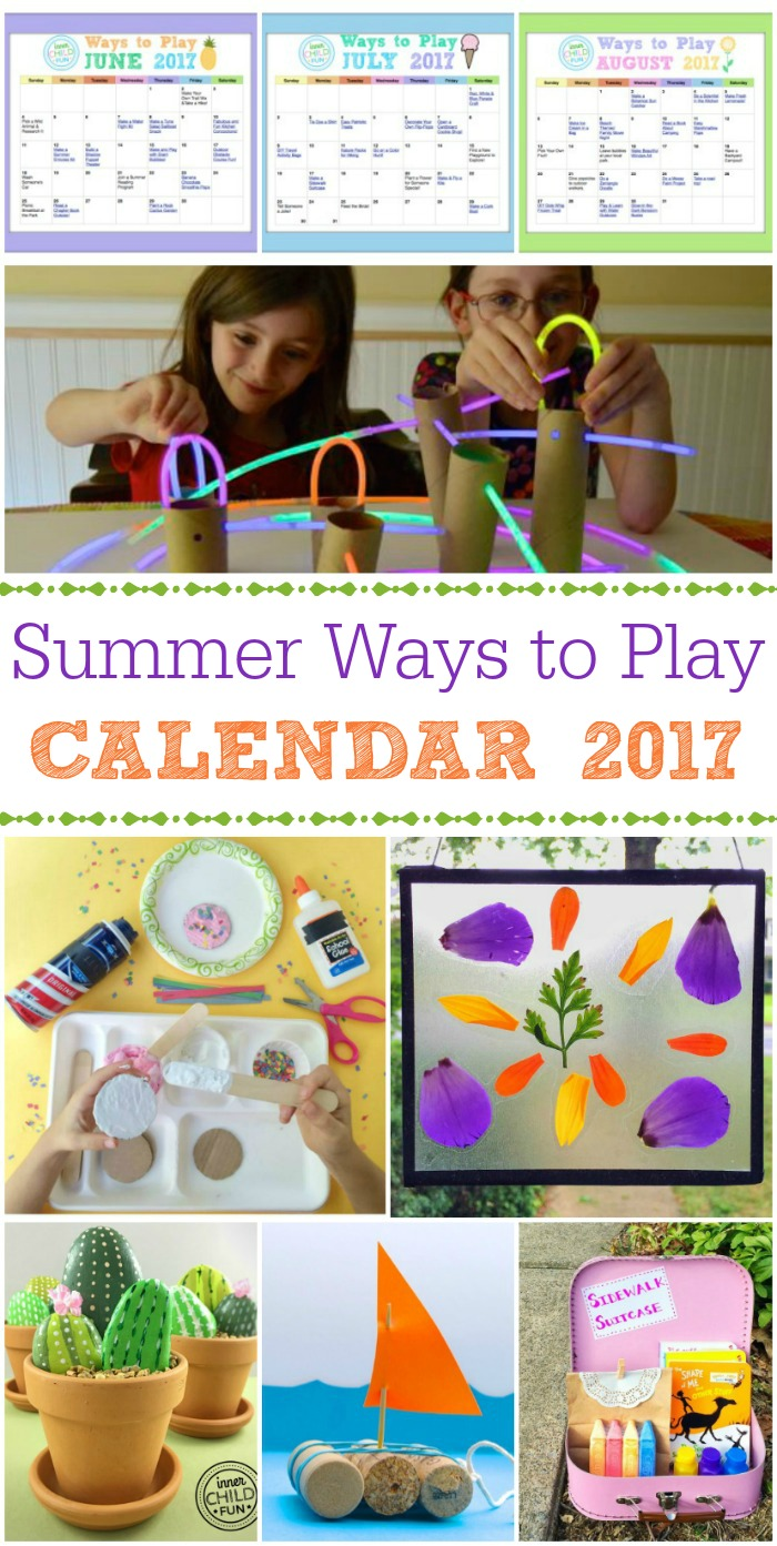 Ways to Play Summer 2017 Calendar
