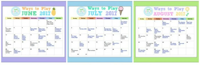 Ways to Play Summer 2017 Calendar