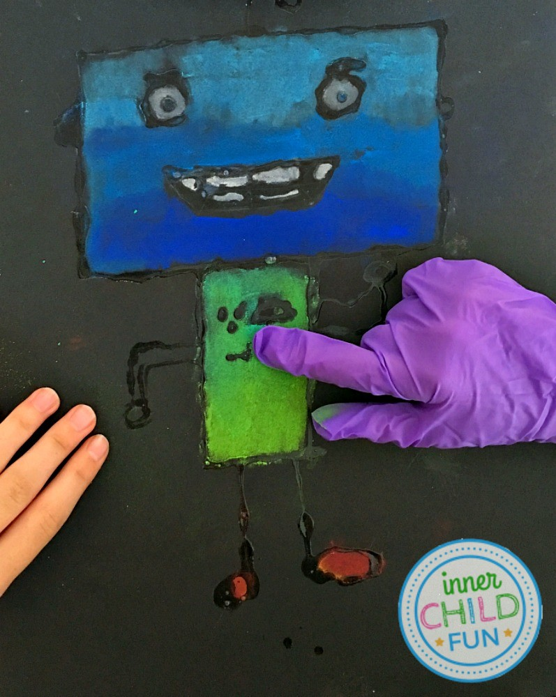 Chalk And Glue Art Project For Kids Inner Child Fun