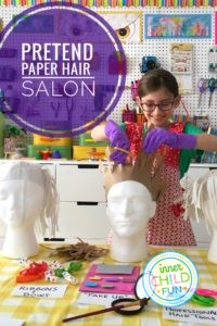 Pretend Paper Hair Salon for Kids