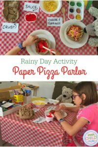 Rainy Day Activity – Paper Pizza Parlor