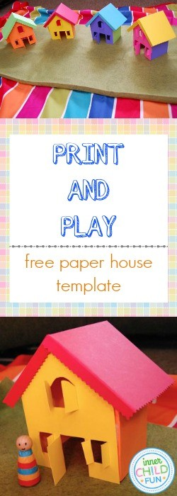 Free Paper House Template  Print And Play  Inner Child Fun