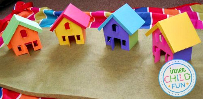 Free Paper House Template - Print and Play!