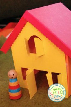 Free Paper House Template - Print and Play! - Inner Child Fun