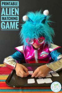Space Alien Matching Game – Free Printable
