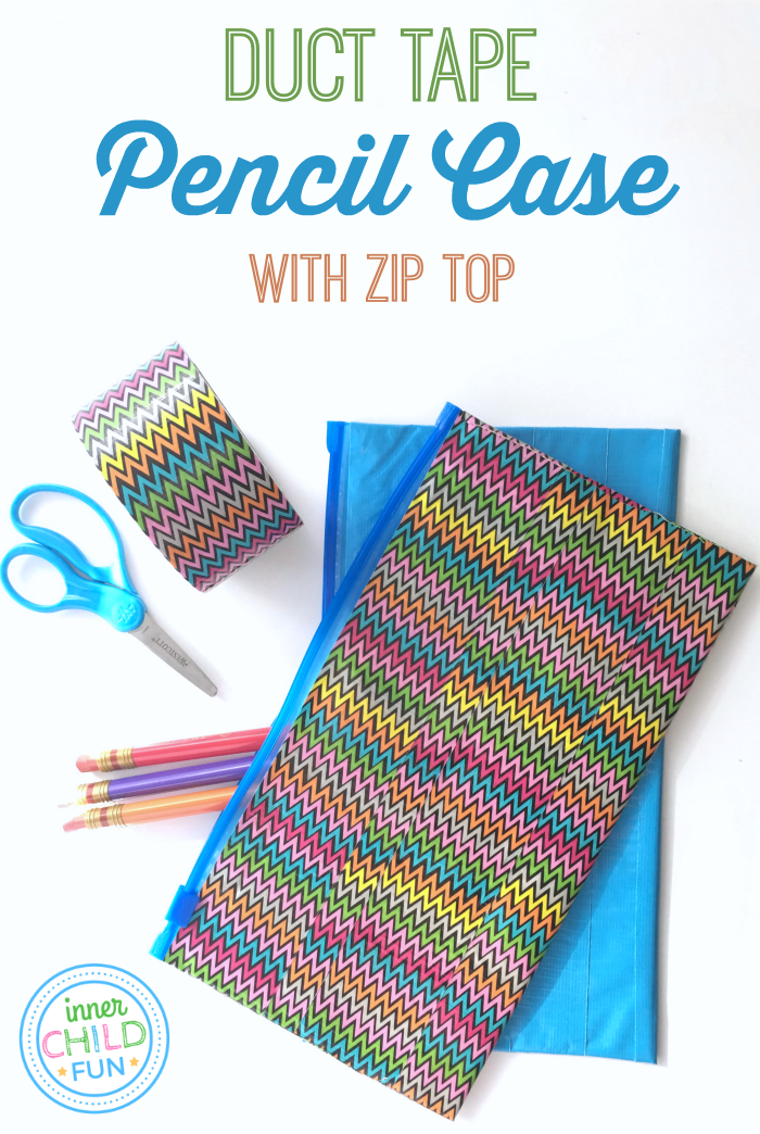 Duct Tape Pencil Case with Zip Top
