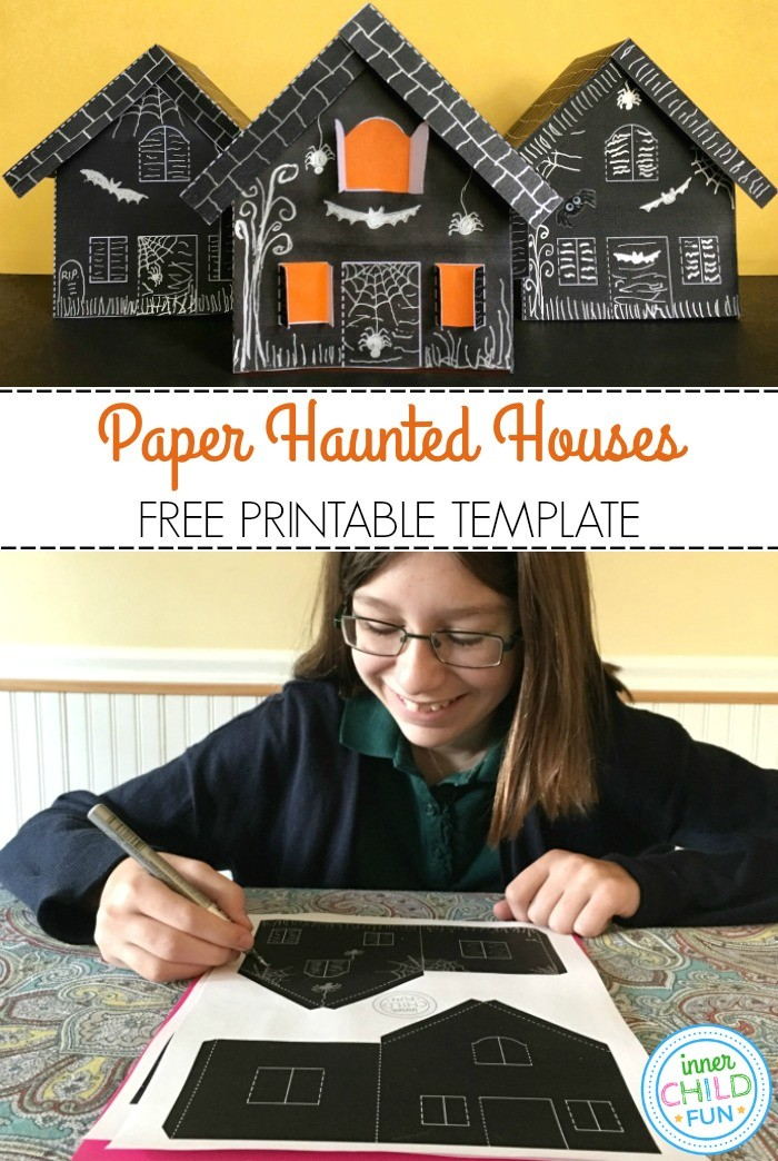 Paper Haunted House Lanterns for Halloween