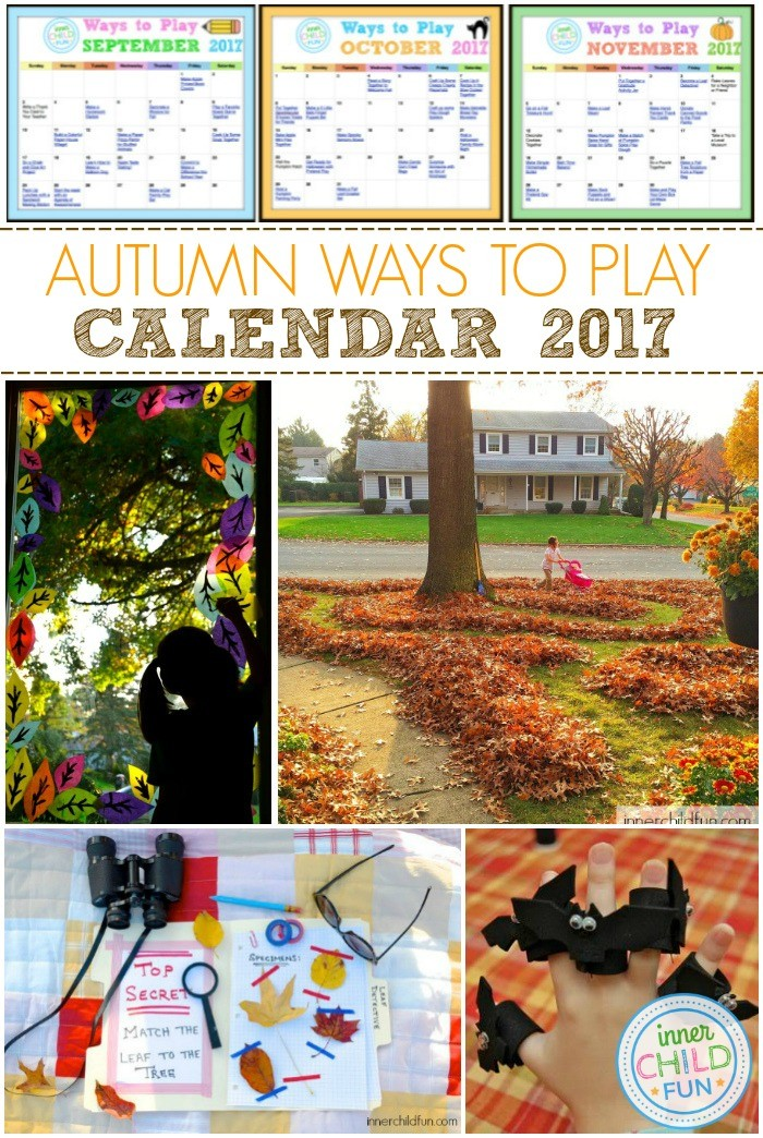Ways to Play Fall 2017 Calendar