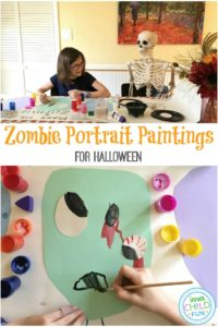 Zombie Portrait Banner for Halloween