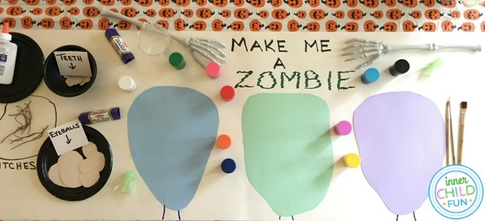 Zombie Portrait Banner for Halloween