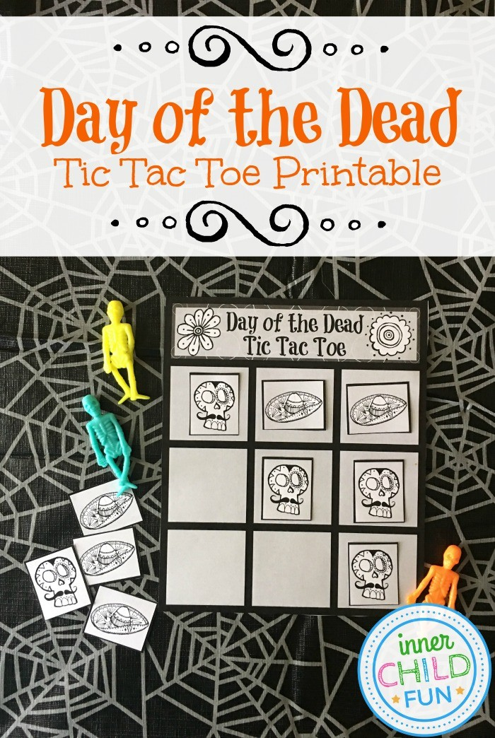 Day of the Dead Tic Tac Toe Printable - Inner Child Fun