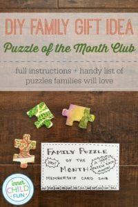 DIY Family Gift Idea – Puzzle of the Month